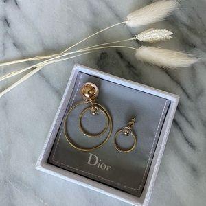Dior Tribal Asymmetrical Hoop Earrings
